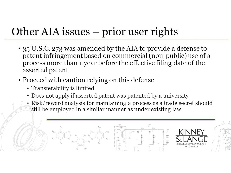 Other AIA issues – prior user rights