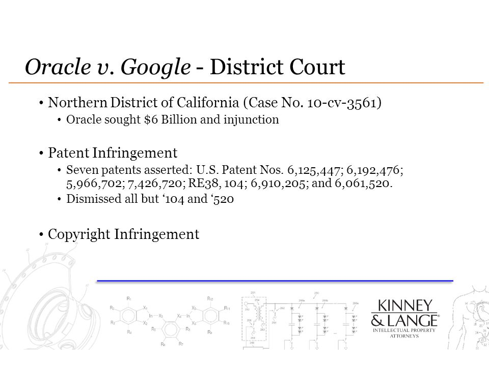 Oracle v. Google - District Court