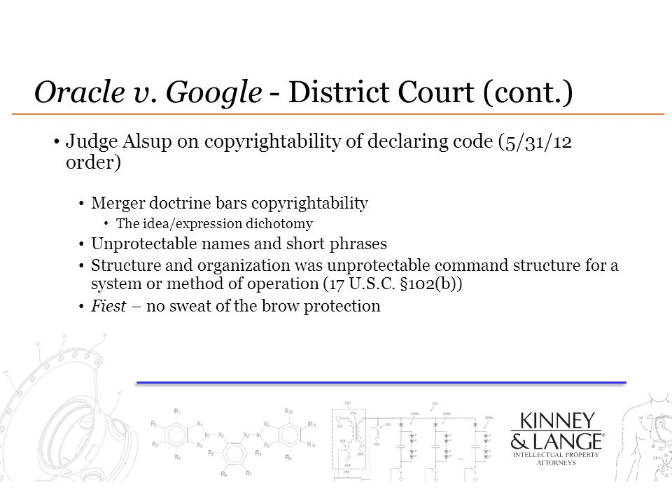 Oracle v. Google - District Court (cont.)