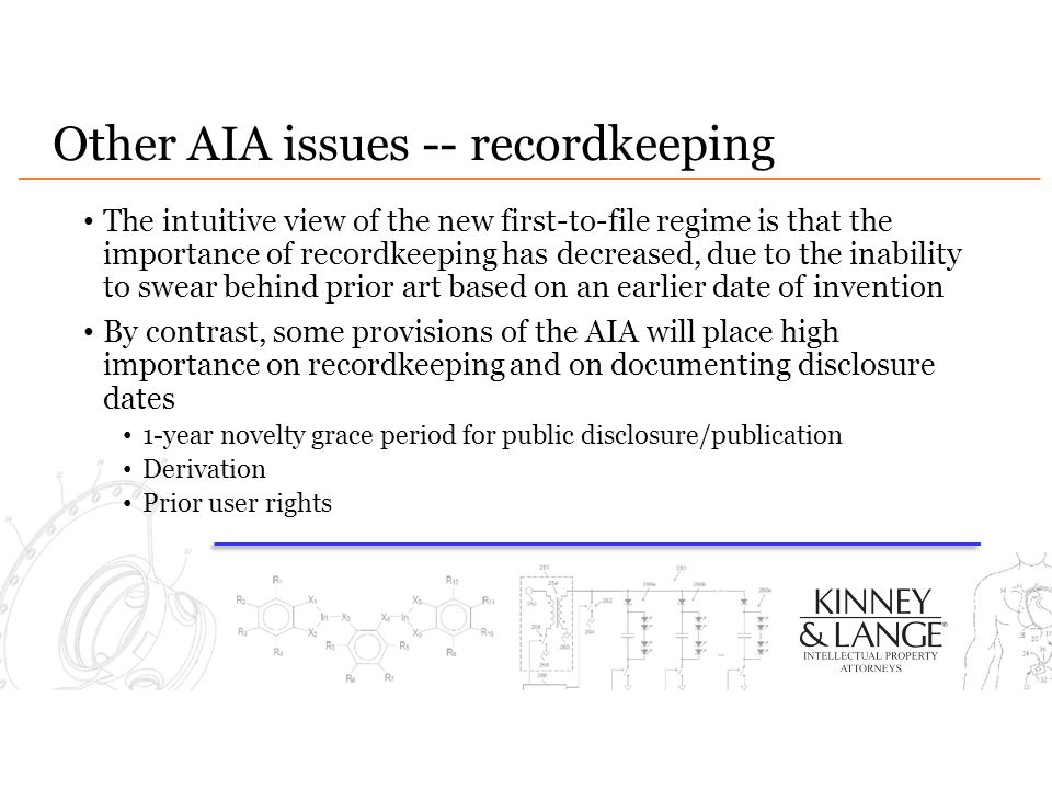 Other AIA issues -- recordkeeping