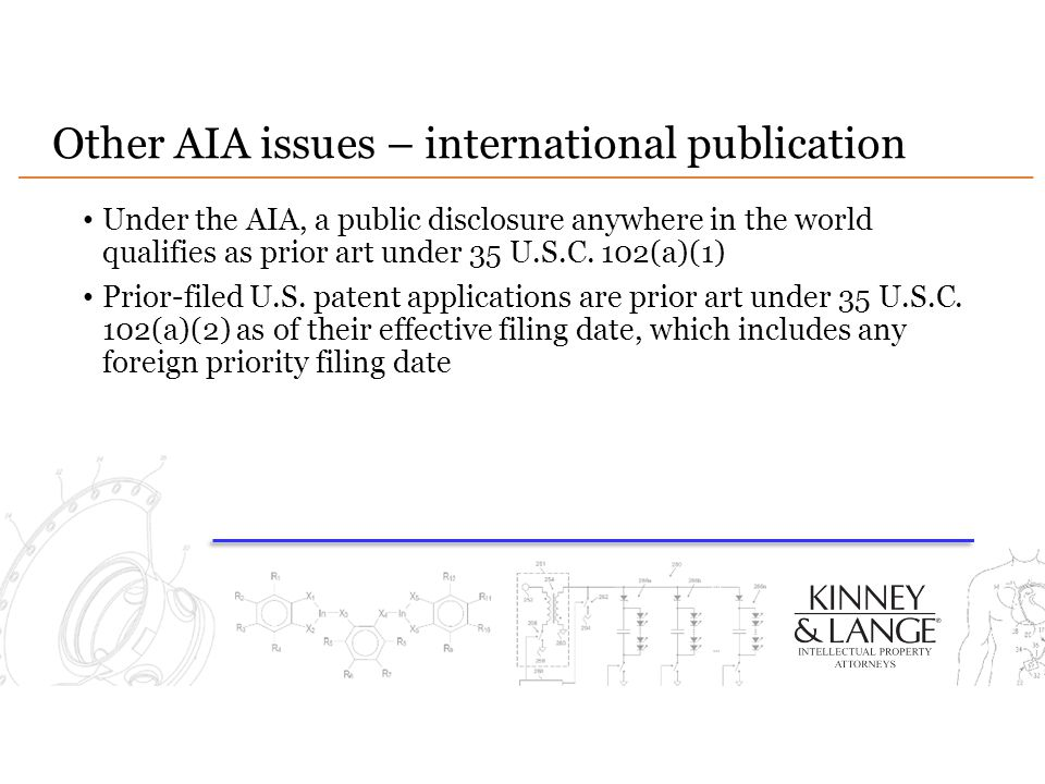 Other AIA issues – international publication