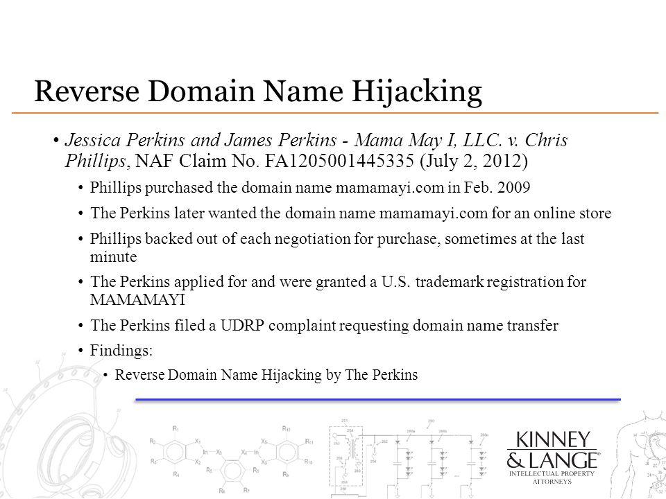 Reverse Domain Name Hijacking