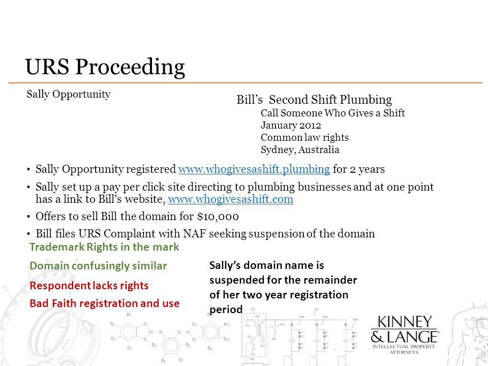 URS Proceeding Bill's Second Shift Plumbing