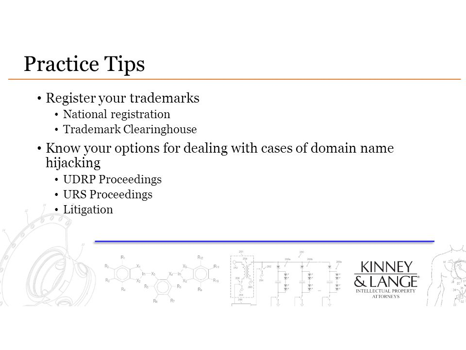 Practice Tips Register your trademarks