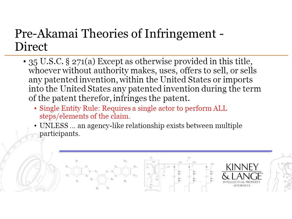 Pre-Akamai Theories of Infringement - Direct