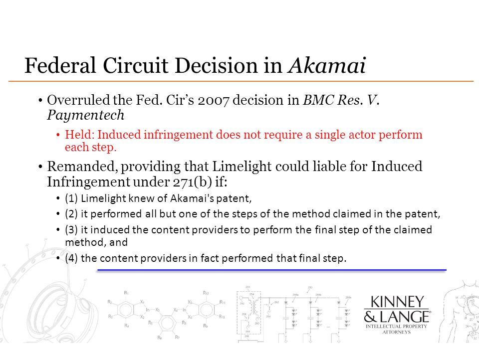 Federal Circuit Decision in Akamai