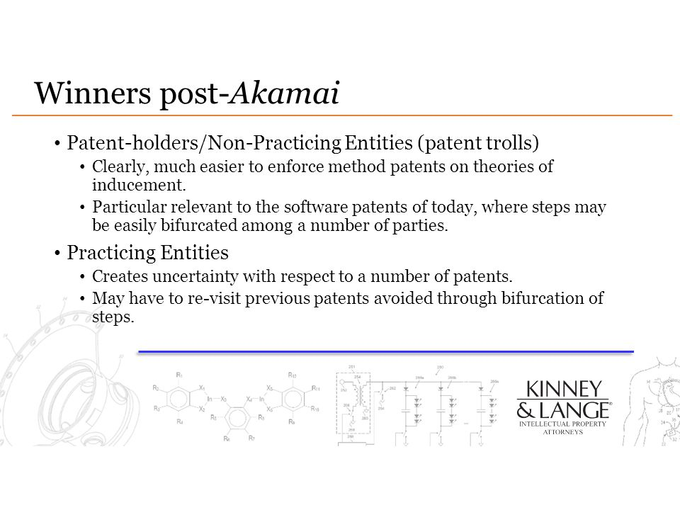 Winners post-Akamai Patent-holders/Non-Practicing Entities (patent trolls)