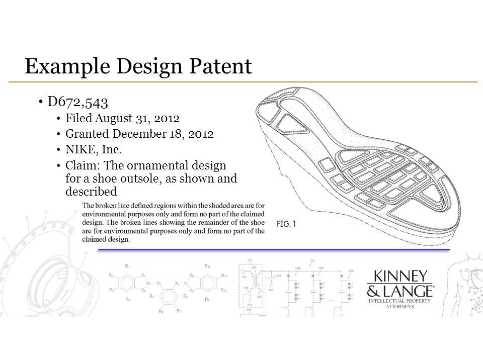 Example Design Patent D672,543 Filed August 31, 2012