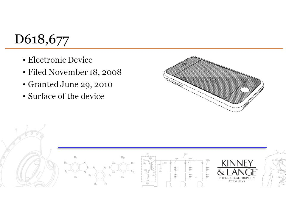 D618,677 Electronic Device Filed November 18, 2008