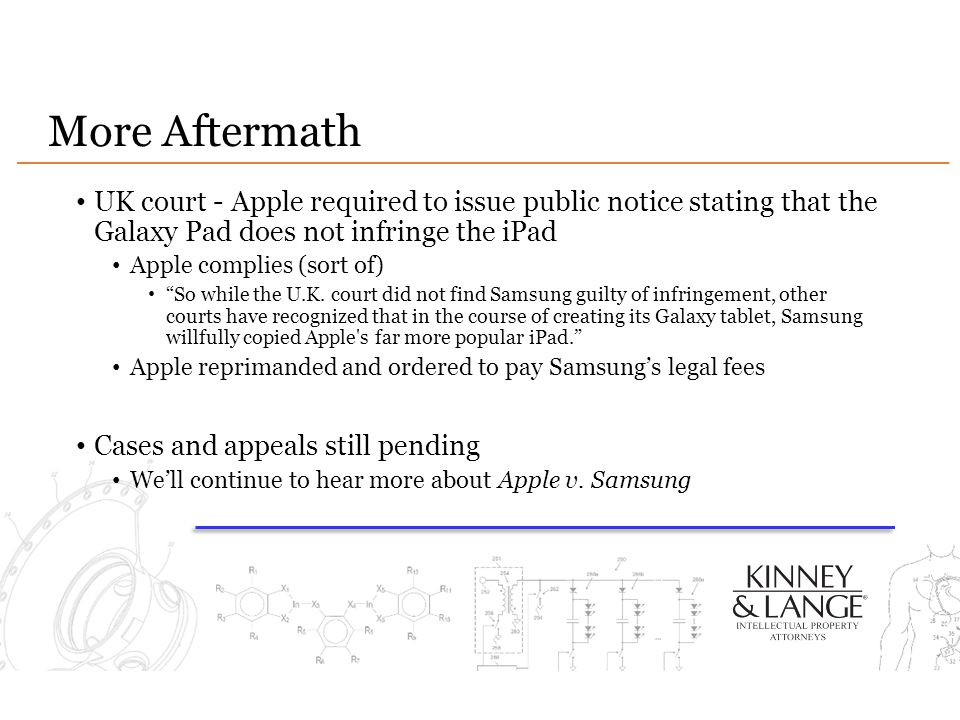 More Aftermath UK court - Apple required to issue public notice stating that the Galaxy Pad does not infringe the iPad.