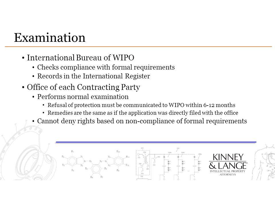 Examination International Bureau of WIPO