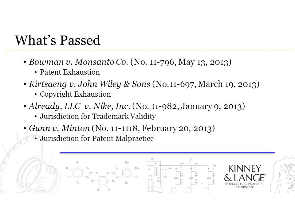 What's Passed Bowman v. Monsanto Co. (No. 11-796, May 13, 2013)