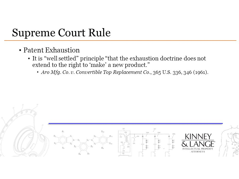 Supreme Court Rule Patent Exhaustion