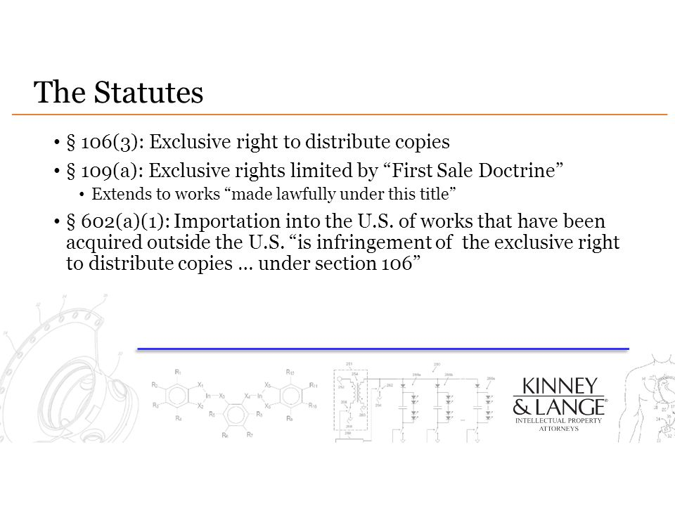 The Statutes § 106(3): Exclusive right to distribute copies
