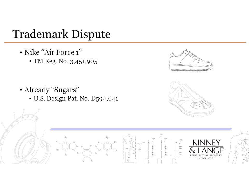 Trademark Dispute Nike Air Force 1 Already Sugars