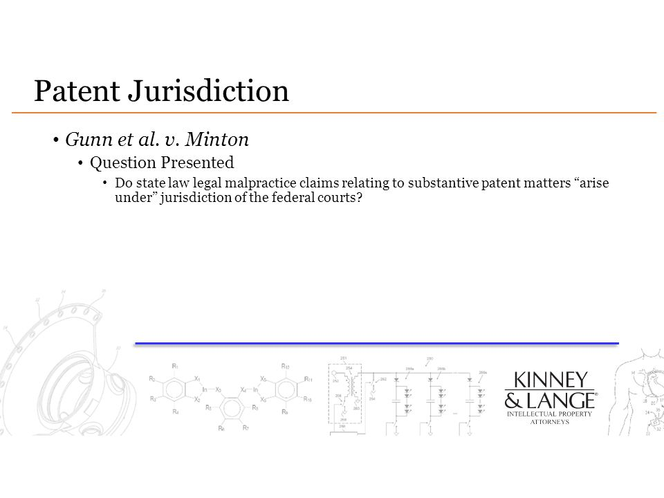 Patent Jurisdiction Gunn et al. v. Minton Question Presented