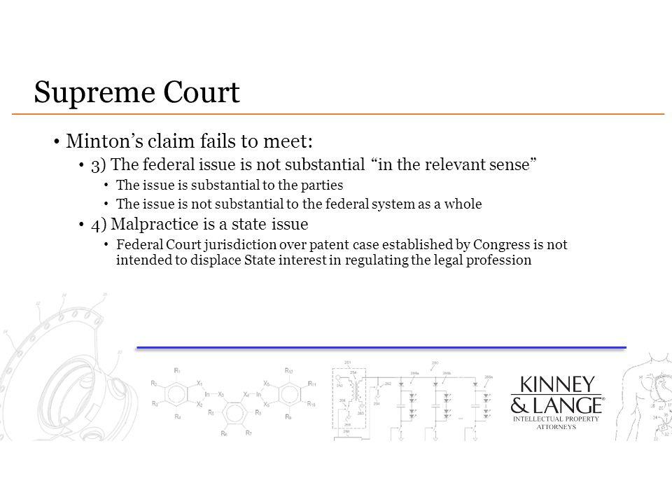 Supreme Court Minton's claim fails to meet:
