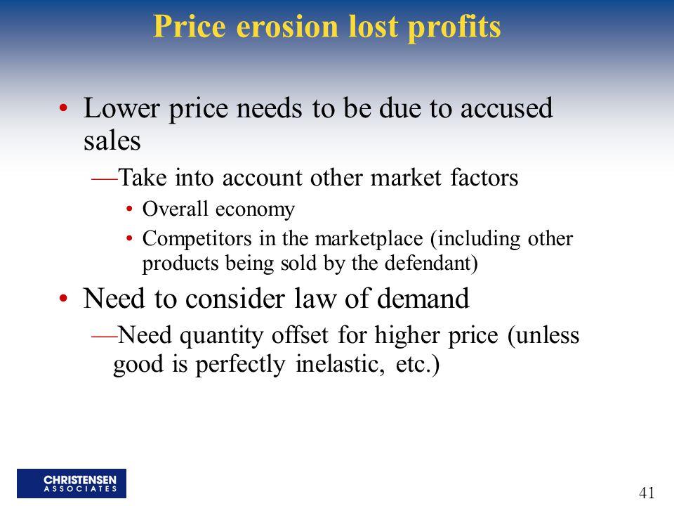 Price erosion lost profits