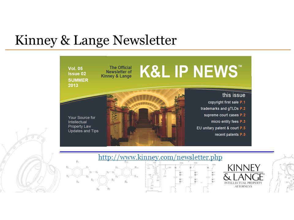 Kinney & Lange Newsletter