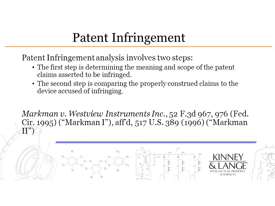 Patent Infringement Patent Infringement analysis involves two steps: