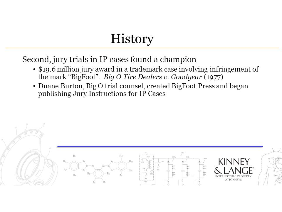 History Second, jury trials in IP cases found a champion
