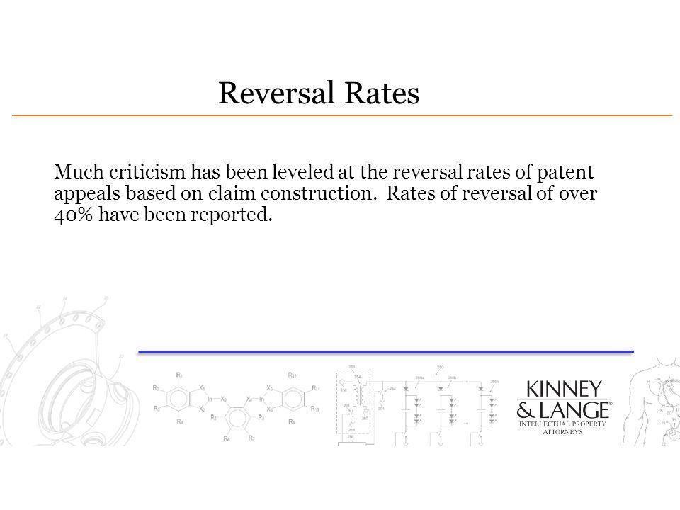 Reversal Rates