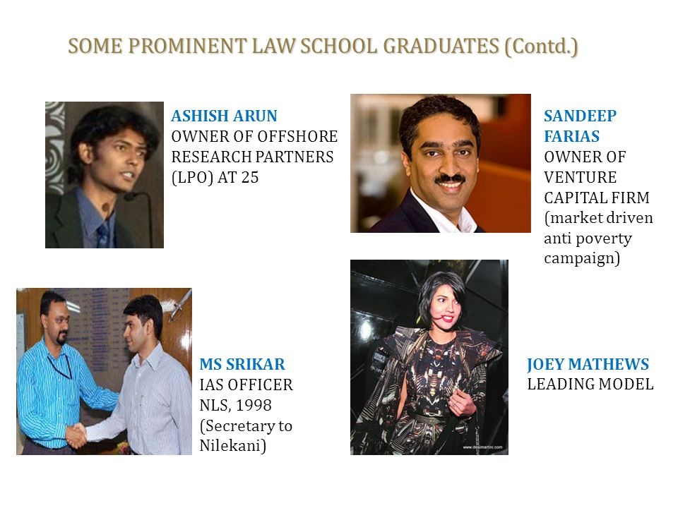 SOME PROMINENT LAW SCHOOL GRADUATES (Contd.)