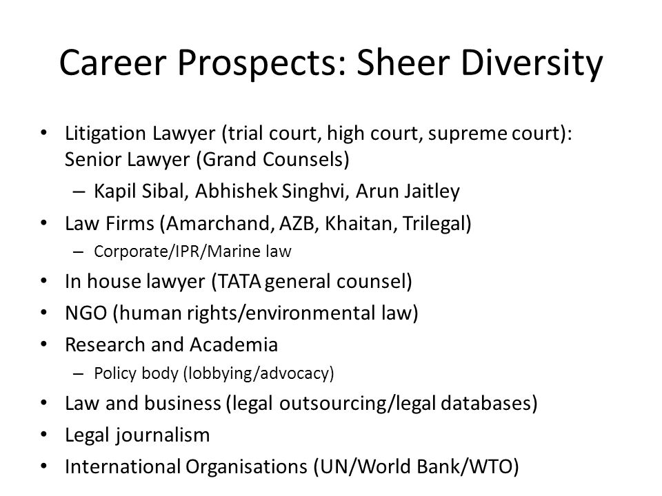 Career Prospects: Sheer Diversity