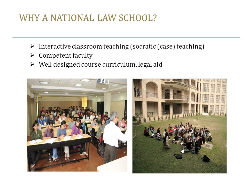 WHY A NATIONAL LAW SCHOOL