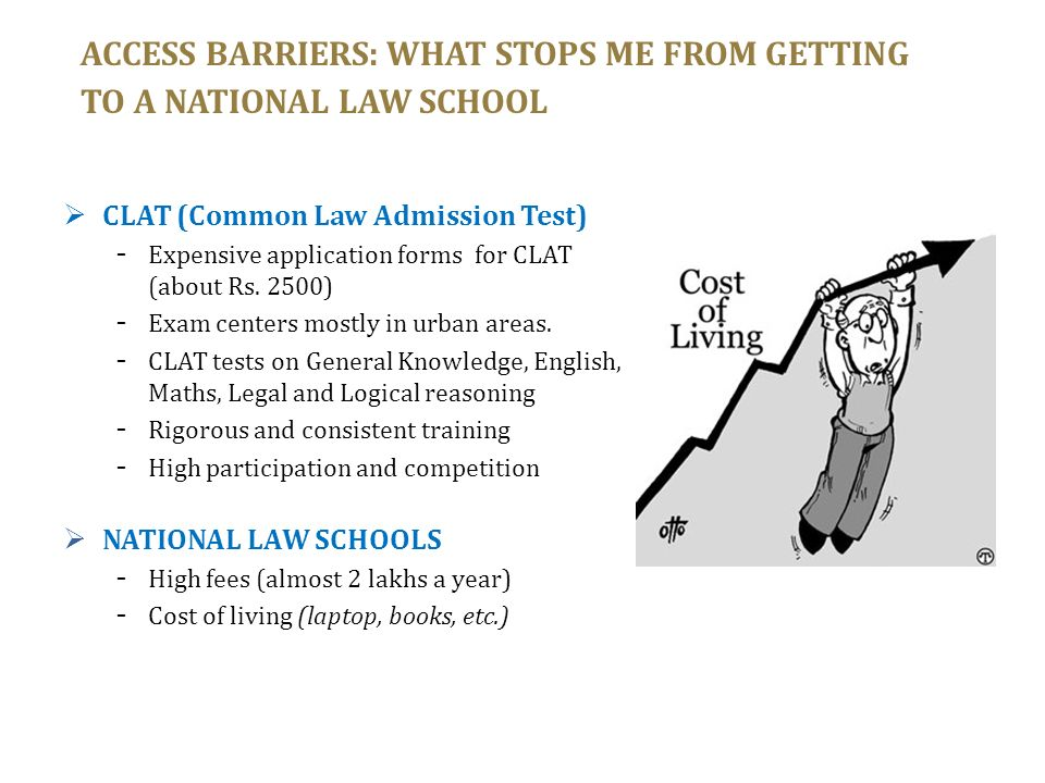 ACCESS BARRIERS: WHAT STOPS ME FROM GETTING TO A NATIONAL LAW SCHOOL
