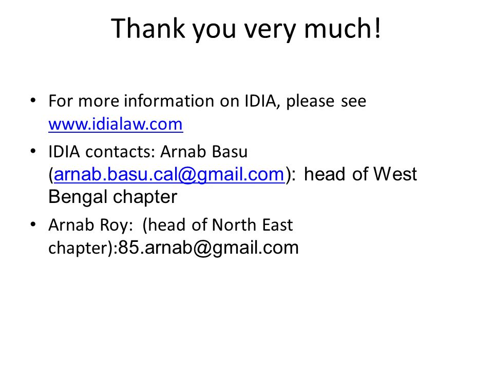 Thank you very much! For more information on IDIA, please see