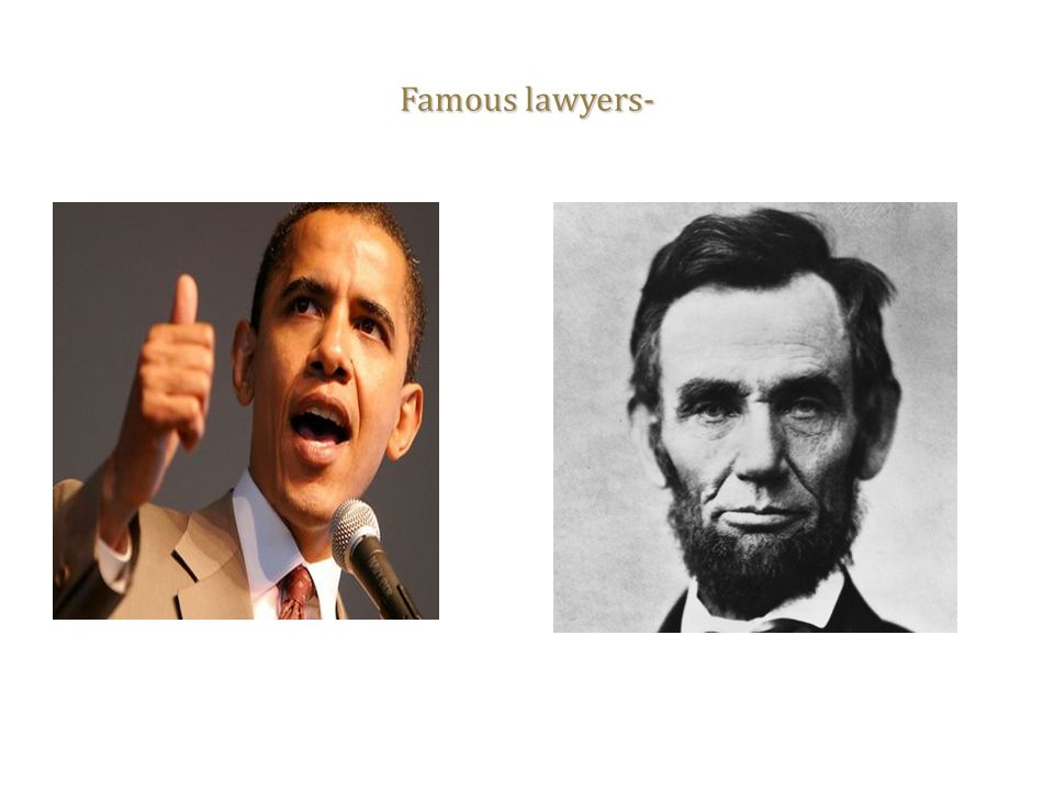 Famous lawyers-