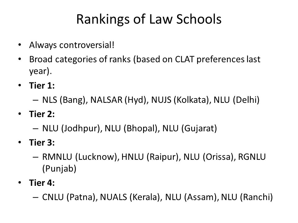 Rankings of Law Schools