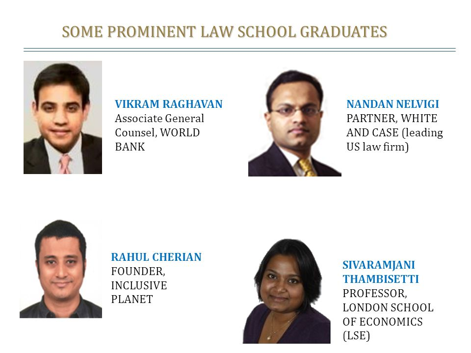 SOME PROMINENT LAW SCHOOL GRADUATES