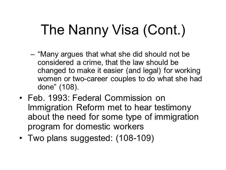 The Nanny Visa (Cont.)