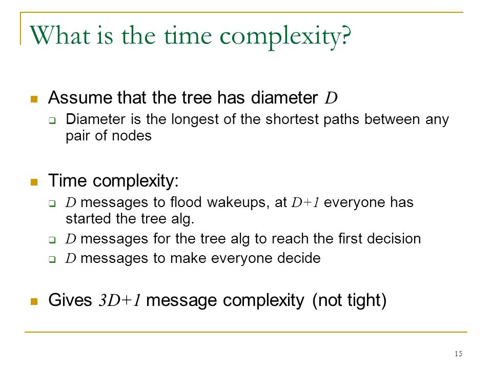 What is the time complexity