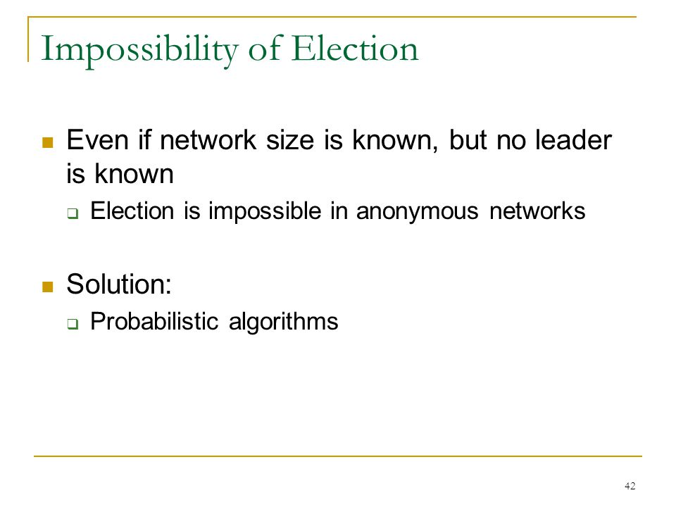 Impossibility of Election