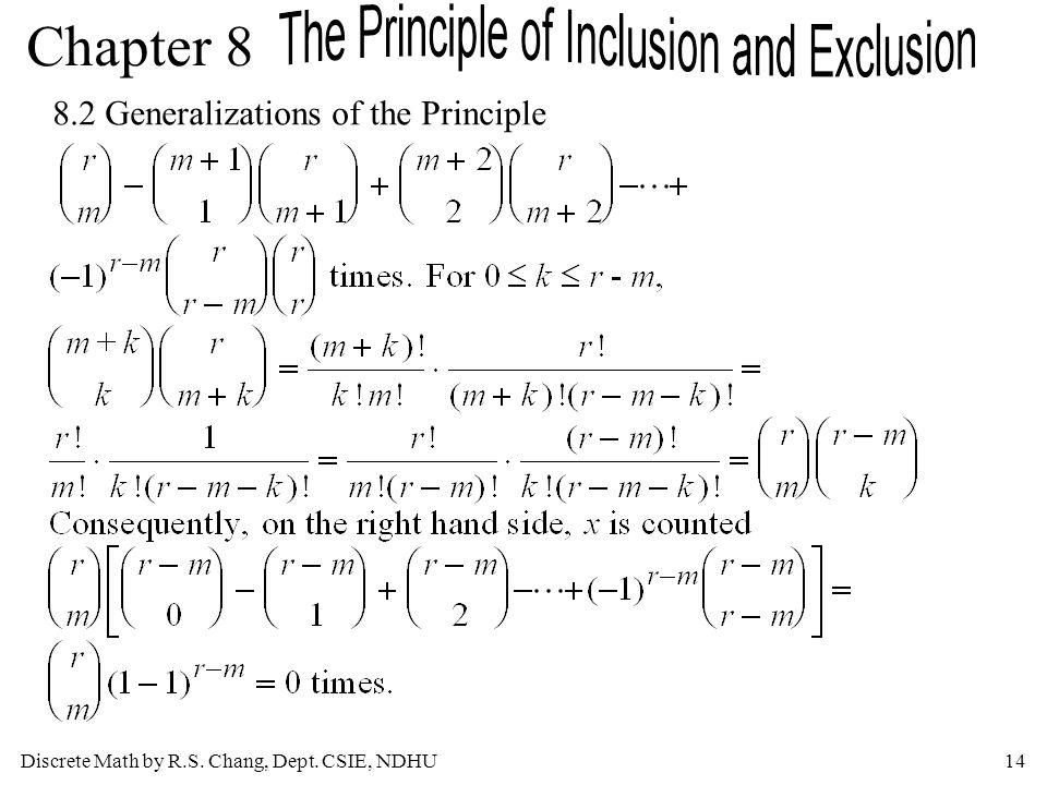 8.2 Generalizations of the Principle