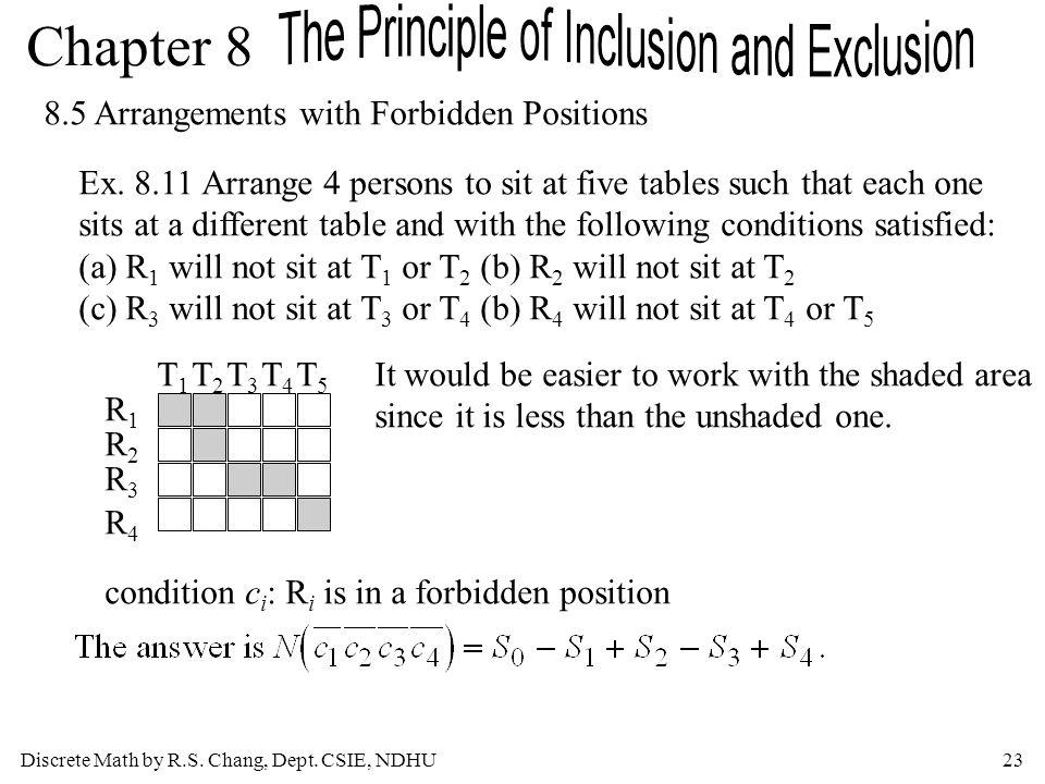 8.5 Arrangements with Forbidden Positions