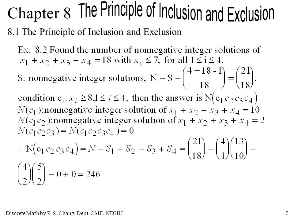 8.1 The Principle of Inclusion and Exclusion