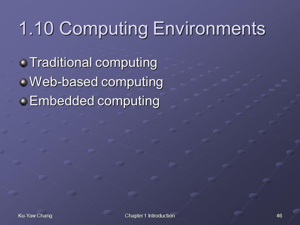 1.10 Computing Environments
