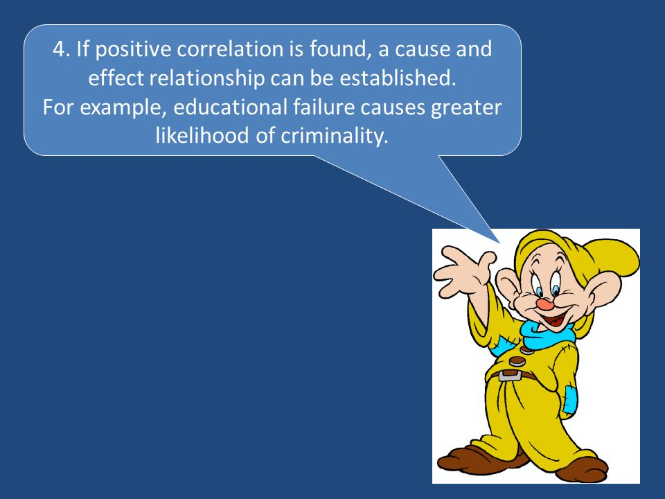 4. If positive correlation is found, a cause and effect relationship can be established.