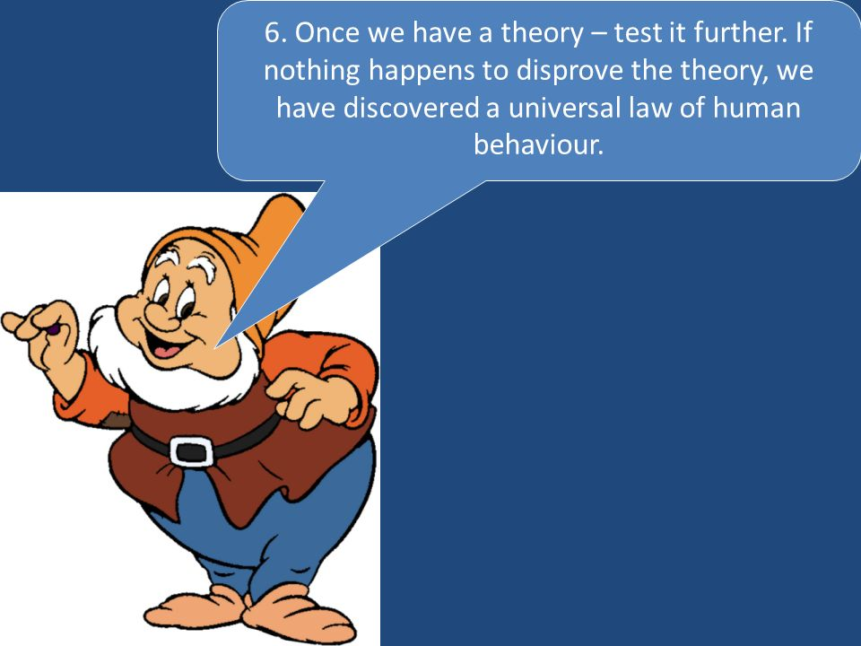 6. Once we have a theory – test it further