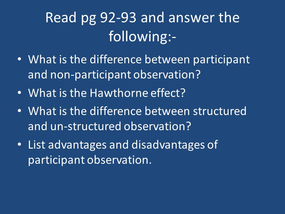 Read pg and answer the following:-