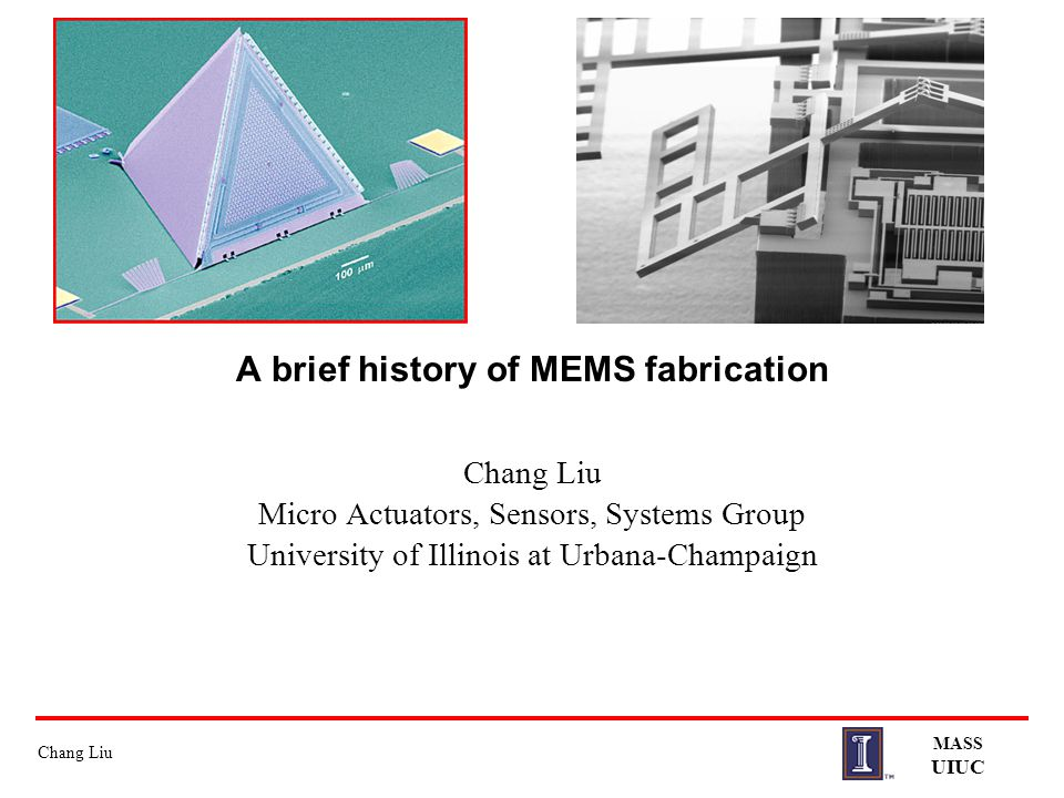 A brief history of MEMS fabrication