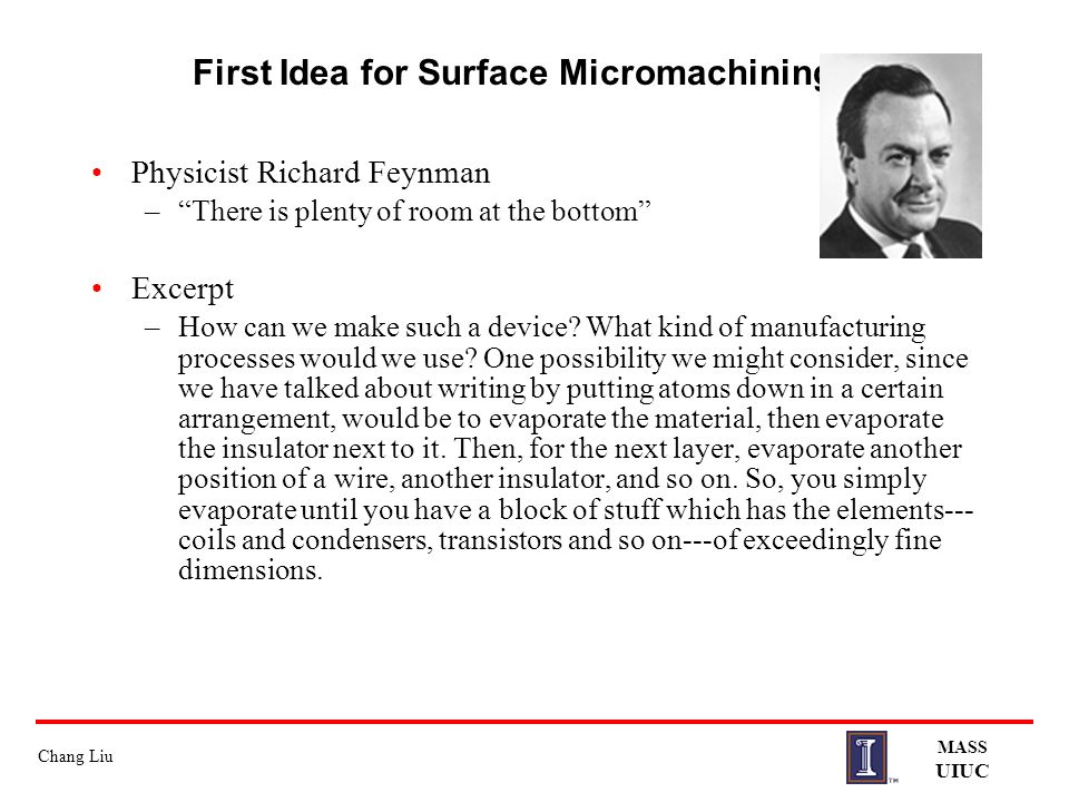 First Idea for Surface Micromachining …