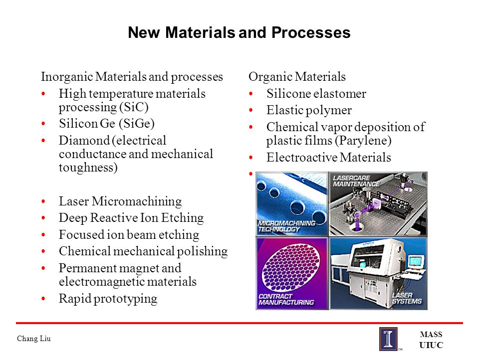 New Materials and Processes