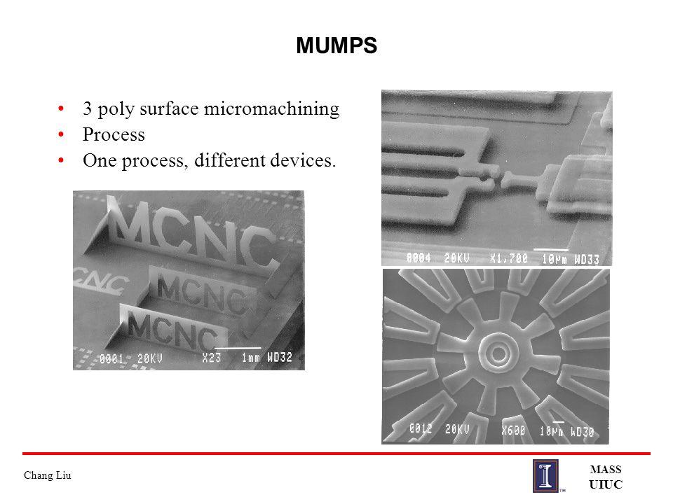 MUMPS 3 poly surface micromachining Process