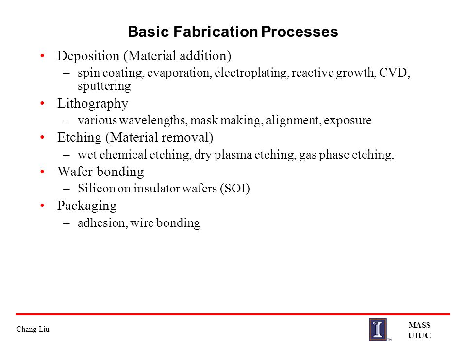 Basic Fabrication Processes