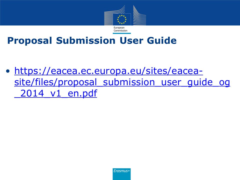 Proposal Submission User Guide